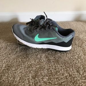 Nike running shoes, grey & mint green color